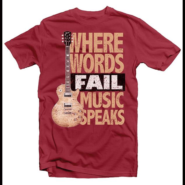 Words Fail Music Speaks t shirt designs for printify