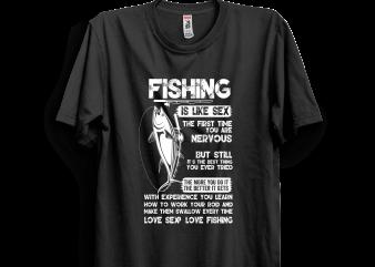 Fishing is like sex t shirt design png