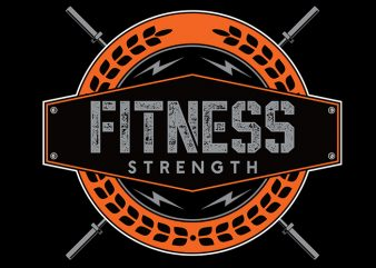 fitness Vector t-shirt design