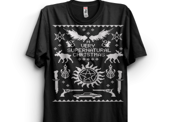 A Very Supernatural Christmas t shirt vector