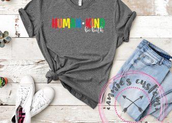 Human Kind – Be Both t-shirt design for sale