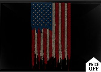 AMERICAN FLAG Finger graphic t-shirt design