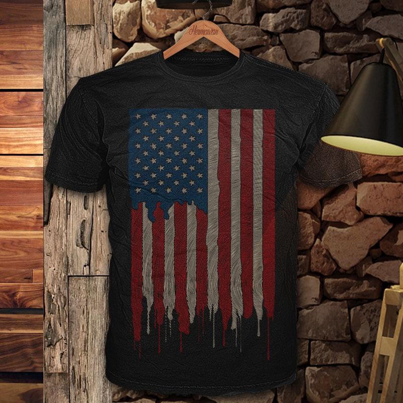 AMERICAN FLAG Finger vector t shirt design