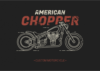 American Chopper t shirt vector