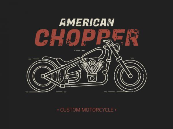 American Chopper t shirt vector