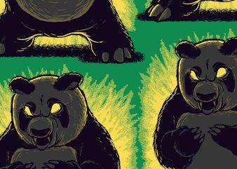 Angry Panda t shirt design to buy