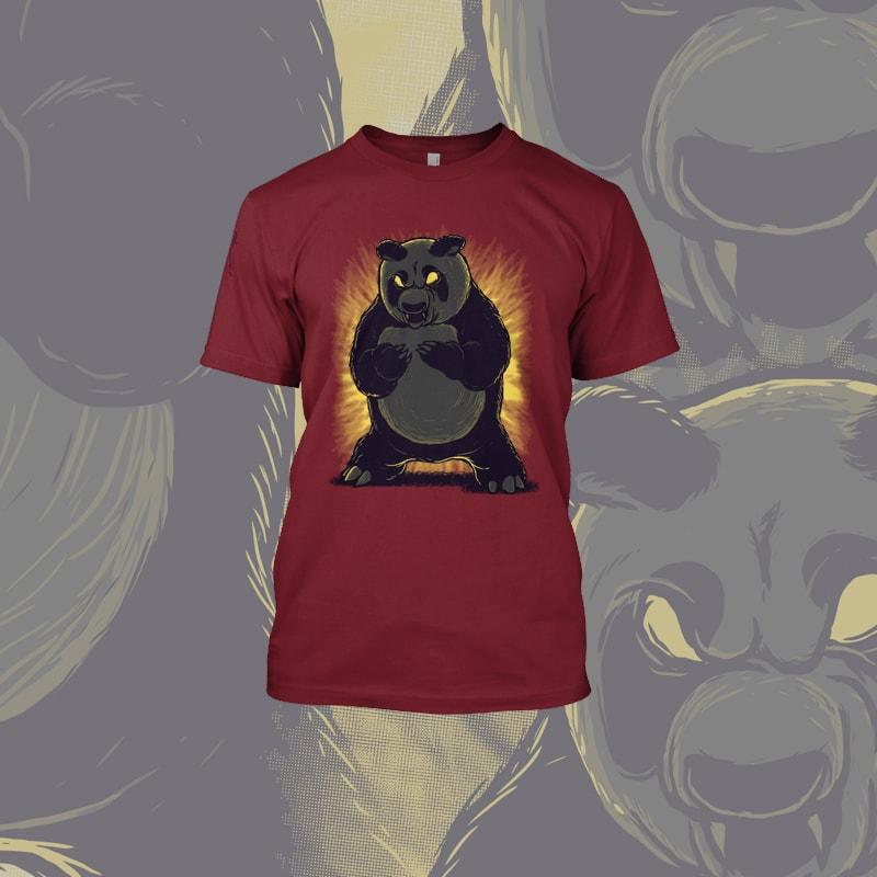 Angry Panda tshirt designs for merch by amazon