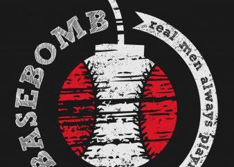 BaseBomb t-shirt design vector