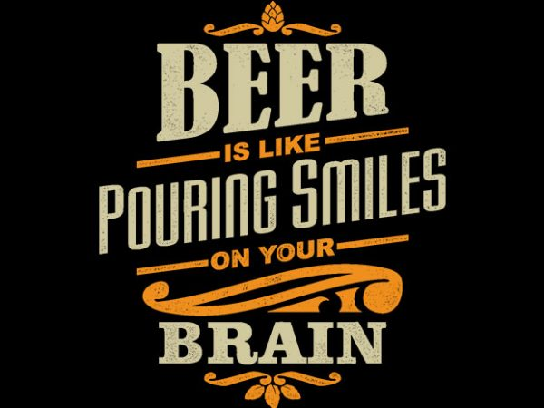 Beer Smiles t shirt template