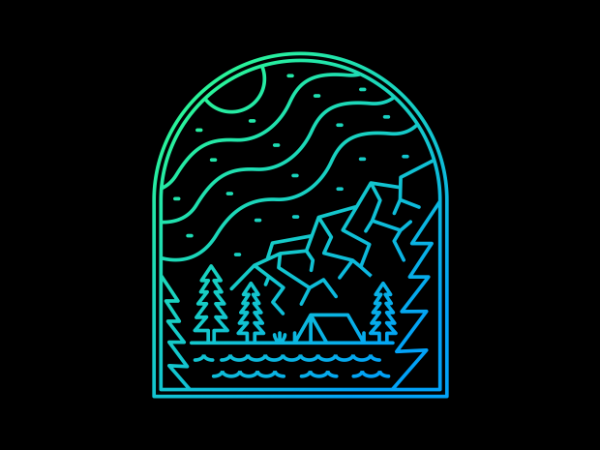 Camp Life vector shirt design