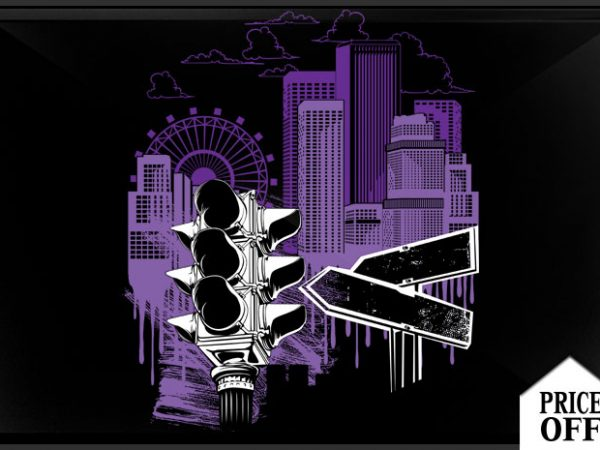 City Sky design for t shirt