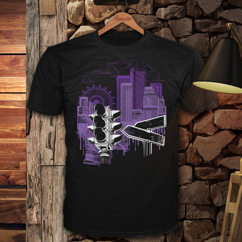 City Sky tshirt design for merch by amazon