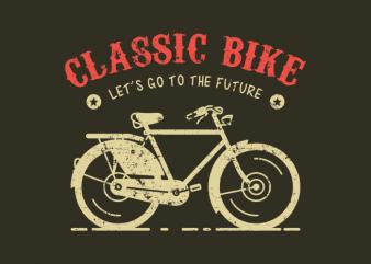 Classic Bike tshirt design vector