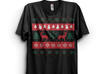 Cool Funny Ugly Sweater t shirt vector file