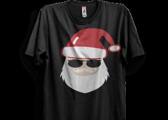 Cool Santa t shirt vector file