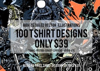 100 Tshirt Designs Big Bundle