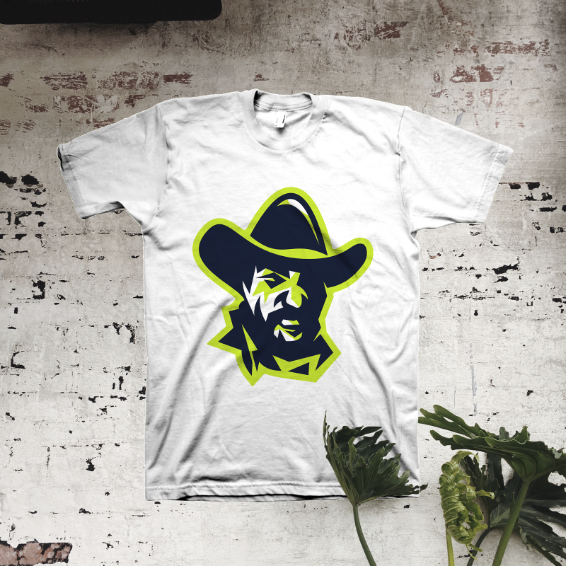 Wild Wild West Western Cowboy Skull Mens T Shirt Gangster Hooligan