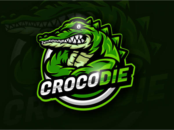 Crocodie vector t shirt design artwork