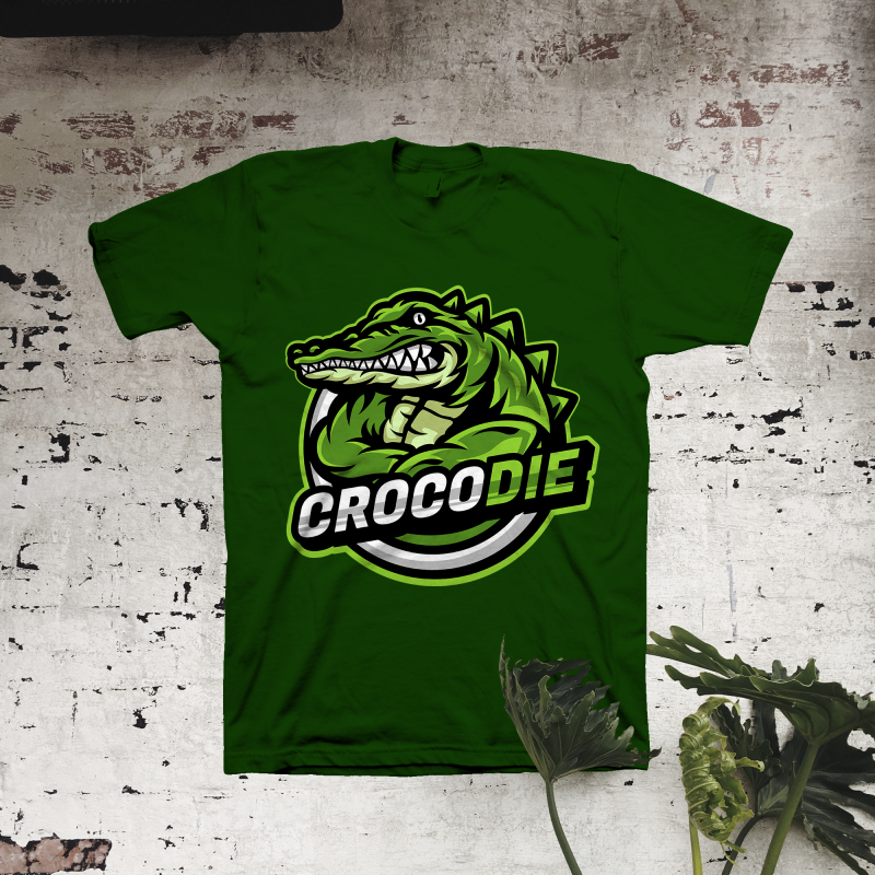 Crocodie t shirt designs for print on demand
