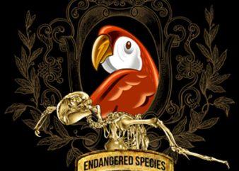 ENDANGERED SPECIES graphic t-shirt design