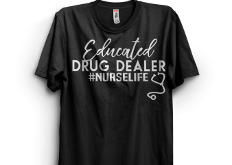 Educated Drug Dealer Nurselife vector clipart