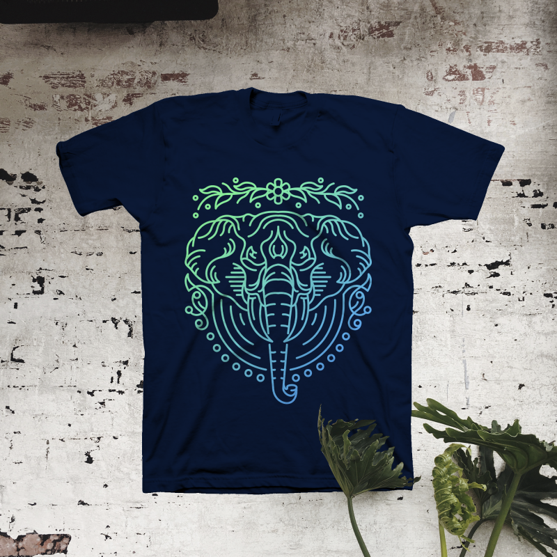 Elephant Lines t shirt designs for merch teespring and printful