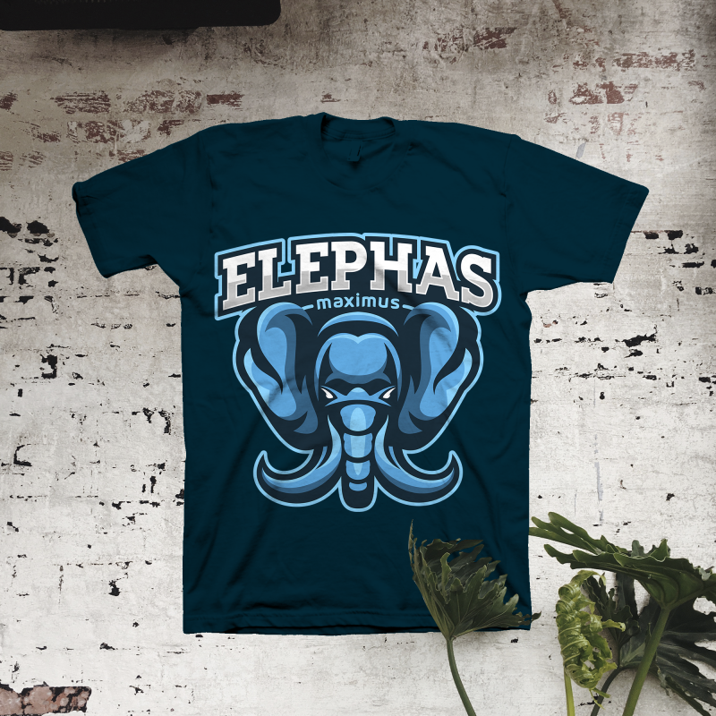 Elephas Maximus t shirt designs for print on demand