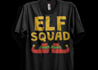 Elf Squad t shirt design png