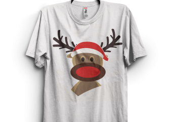 Funny Christmas Deer commercial use t-shirt design