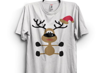 Funny Christmas Indeer graphic t-shirt design