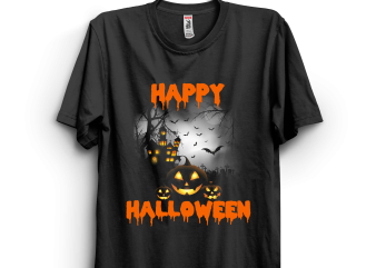 Halloween 67 print ready t shirt design