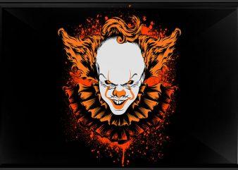 Halloween Clown graphic t shirt