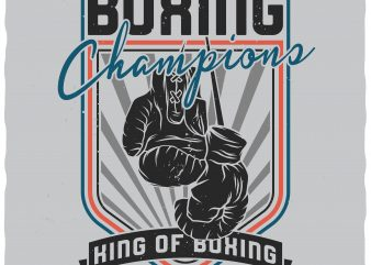 King of boxing. Vector t-shirt design.