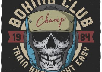 Boxing club. Vector t-shirt design.