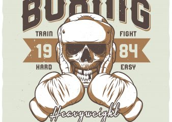 Heavyweight knockout. Vector t-shirt design.