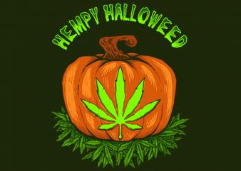 Hempy Halloweed graphic t shirt