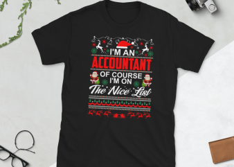 Christmas Accountant-JOB design – Custom your own JOB – Editable JOB