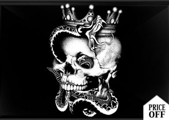 King is dead print ready vector t shirt design