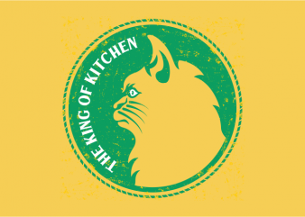 The King of Kitchen vector t-shirt design template