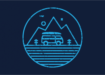 Line Adventure vector t-shirt design for commercial use