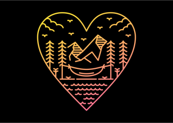Love The Nature t shirt vector graphic