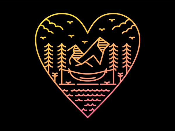 Love The Nature buy t shirt design for commercial use