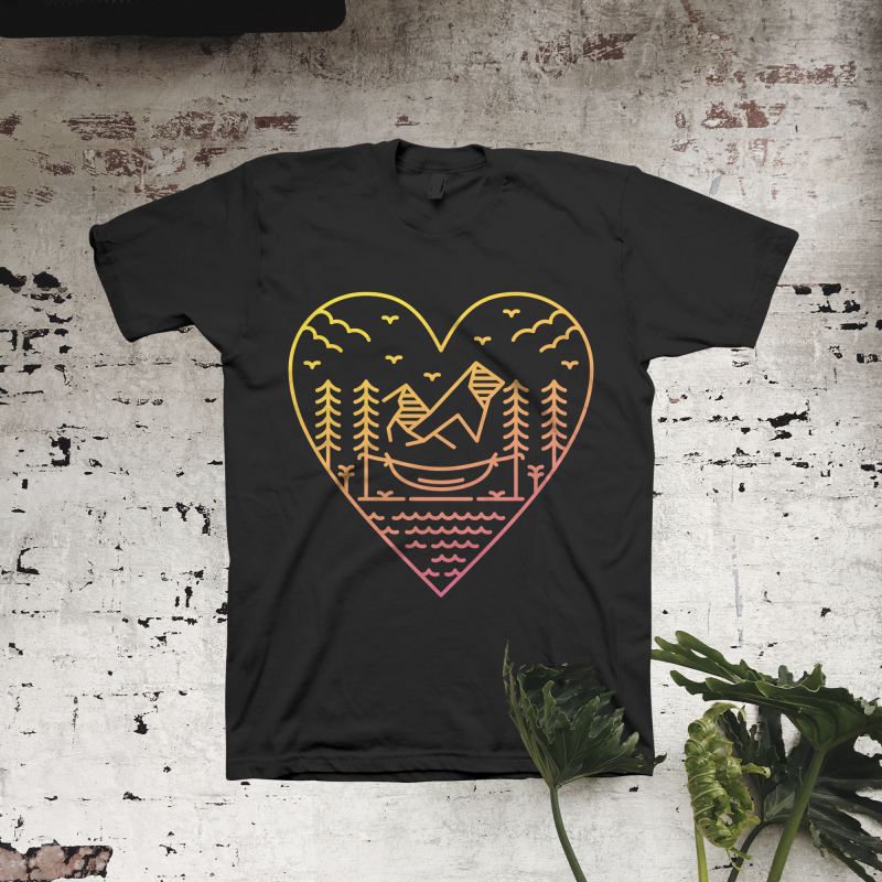Love The Nature t shirt designs for printful