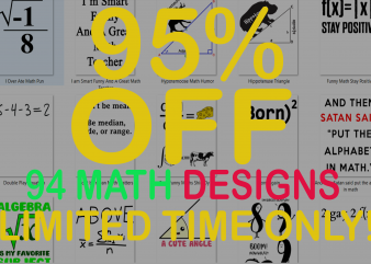 SPECIAL MATH BUNDLE – 94 DESIGNS – 95% OFF – LIMITED TIME ONLY!