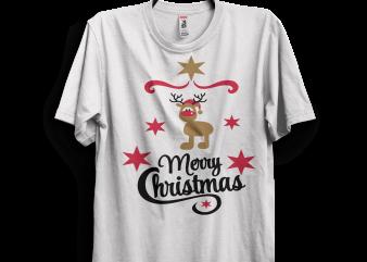 Merry Christmas Indeer t shirt design to buy
