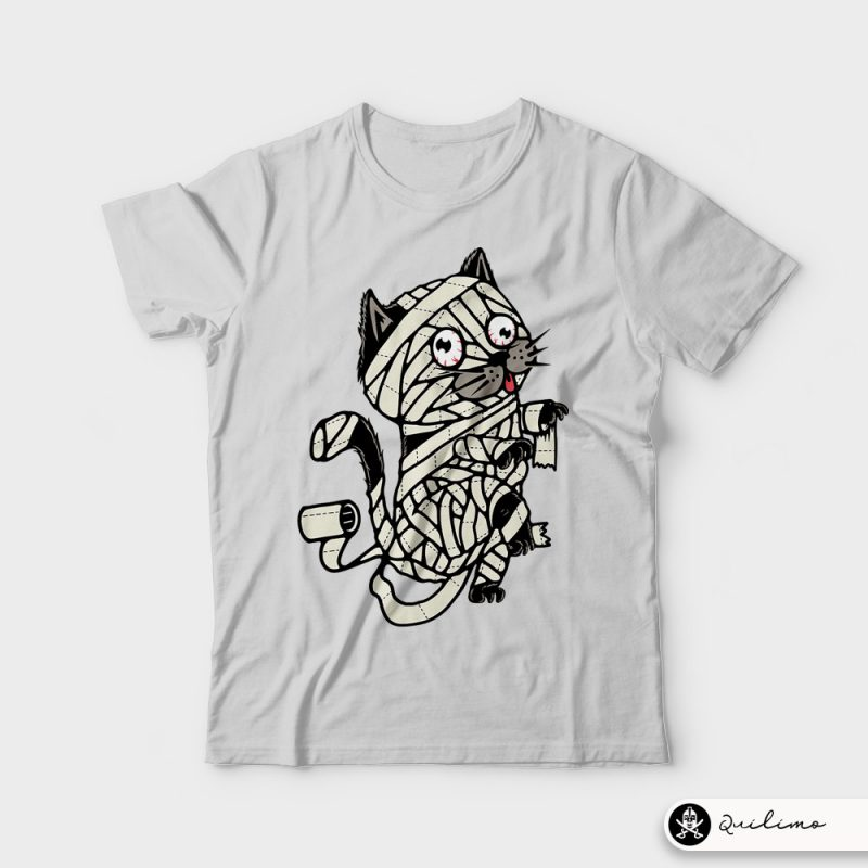 Mummy Cat tshirt designs for merch by amazon