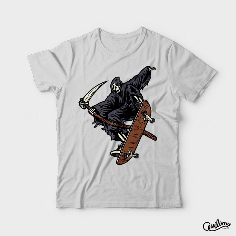 Skate Reaper t shirt design png