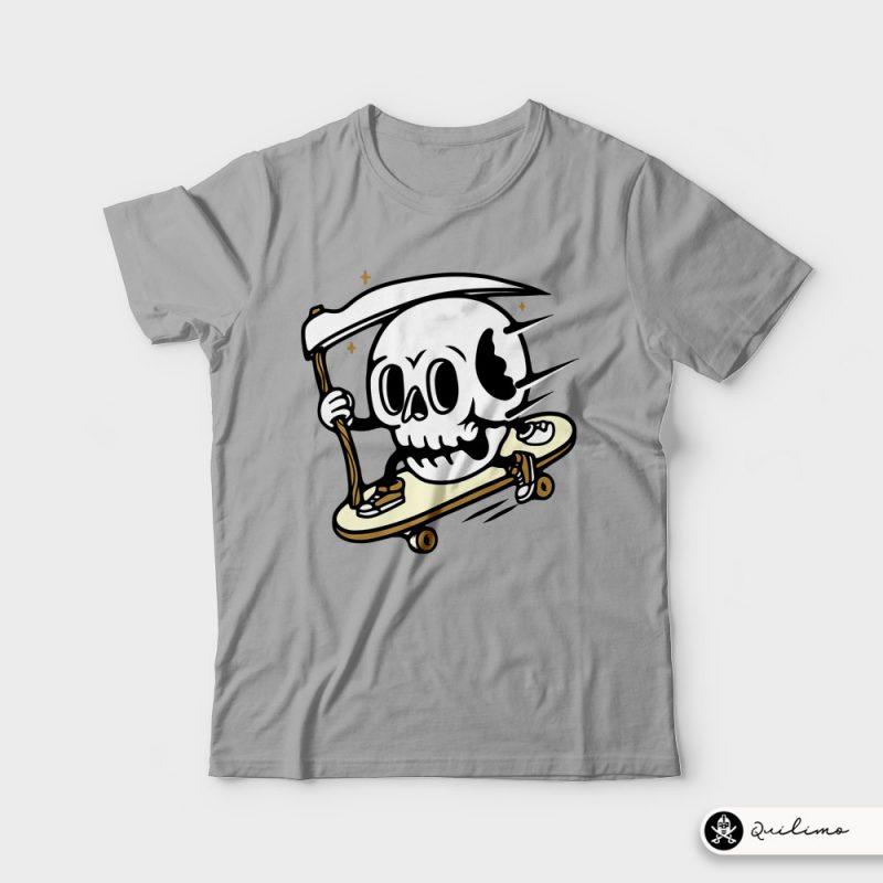 Skullboarding tshirt factory