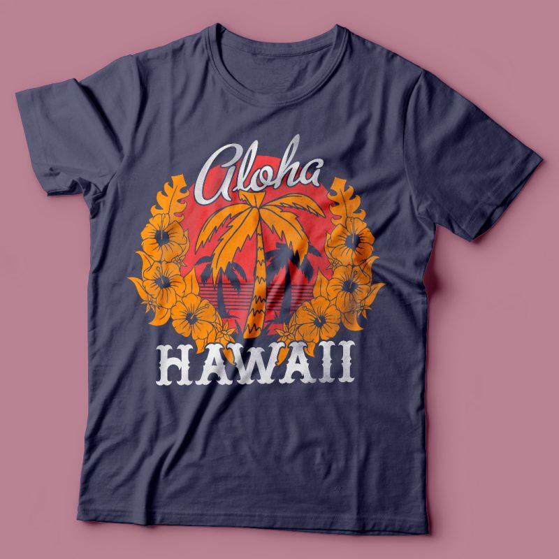 Alloha Hawaii vector t-shirt design tshirt design for sale