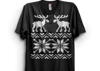 Moose Pattern print ready t shirt design